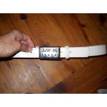 Cinturon De Cuero Kosiuko, Blanco Nuevo