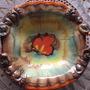 Centro De Mesa Frutera Ceramica Pintada A Mano-sellada Alema