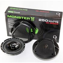 Juego Parlantes Auto 6.5 Pulgada Monster 3via 250w High Tec