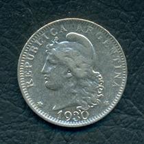 Moneda Argentina 1930 20 Centavos Cj#80