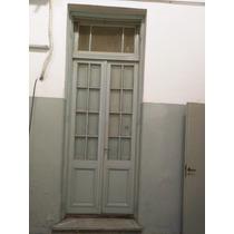 Puerta Antigua 112x325 Original Madera Doble Con Postigo