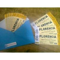 Invitaciones 15 Boda Bautismo / Tarjeta Tipo Ticketek