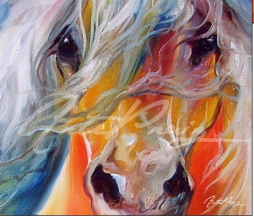 cuadros de caballos coloridos grandes cuadros a ars 1200