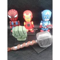 Avengers- Los Vengadores- Adorno Torta- Porcelana Fria