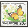 Singapur Fauna Mariposa Ex Colonia Inglesa 1v.usado Nº676