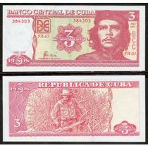 Cuba 2004 - Che Guevara - Billete De 3 Pesos Impecable !!