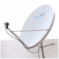 2 Antenas Satelitales 90cm Arsat C/detalles Minimos + Lnbs