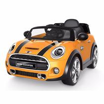 Mini Cooper Auto A Bateria Amarillo Je195