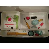 Cajas Plasticas Guarda Cosmeticos Set De 3 Unidades