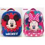 Mochila Mickey Minnie Jardin Termoformada 3d Original Disney