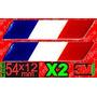 Insignia Bandera Francia,argentina X2 Oferta Resinada Dome