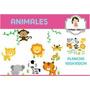 Vinilo Decorativo Animales Selva Infantil