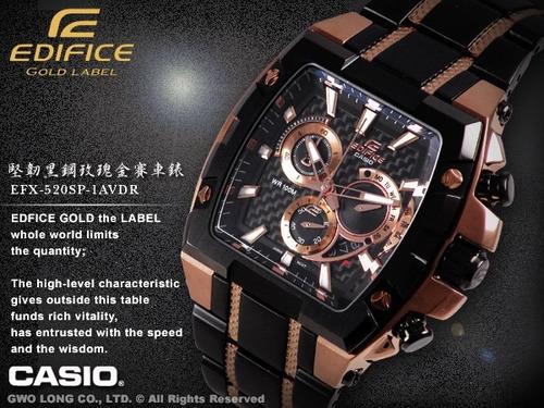7c2da03cadac Casio Edifice Gold Label Chrono Rose Gold Efx 520 Sp 1av -   38140 ...
