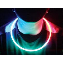 50 Collares Tricolor Luminosos Quimicos Glow. Cotillón Fiest