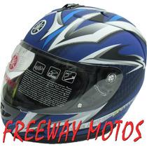 Casco Integral Yamaha Azul Ybr Xtz Fz16 En Freeway Motos !