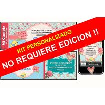 Kit Imprimible Shabby Chic 100% Personalizado