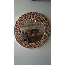 Promo! Espejo Circular Con Venecitas. 60cm De Diametro.