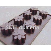 Molde Silicona Flores-bombon-chocolate-jabon-velas-hielo