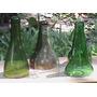 Porta Vela - Candelabro De Botellas De Vidrio Recicladas