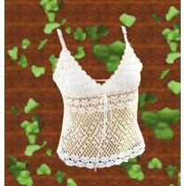 Musculosa Crochet Verano Con Tiritas O Breteles