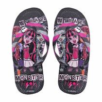 Ojotas De Goma Niñas Monster High Originales 25/36 Kids
