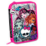 Cartuchera Escolar 2 Pisos Monster High Lic. Original Jiujim