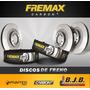 Kit 2 Disco Freno Fremax Delantero Fiat Fiorino 1997-2014