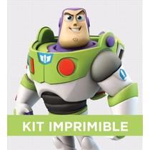 Kit Imprimible Toy Story Buzz Cumple Invitación Banderines