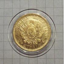 Argentina 5 Pesos Oro 1881 Excelente Rara