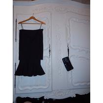 Vestido Negro Las Oreiro Divino!! Super Oportunidad!!