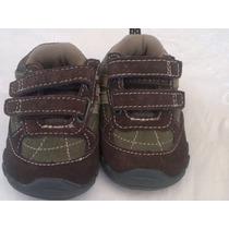 Hermosas Zapatillas Gamuzadas De Bebe Con Abrojo.