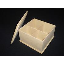 3 Cajas Fibrofacil De Te X 4 Divisiones Maderarte