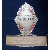*champagne Canciller Etiqueta Antigua (478) *