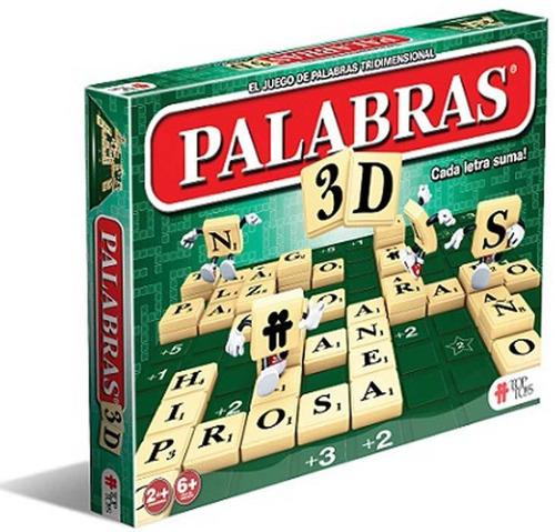 Juego Mesa Palabras Cruzadas 3d Top Toys Jugueteria Bloque 878