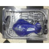 Cubre Puños Circuit Alma De Aluminio Supermotard Azul