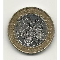 12 - Reino Unido Moneda Bimetálica 2 Libras 2004 Inventos