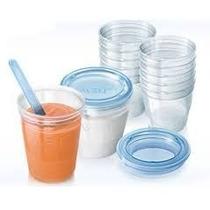 Set De Almacenamiento Avent Vasos + Cuchara De Regalo Bebes