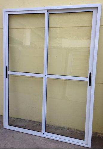 Ventana balcon aluminio blanco 120x200 cierres laterales for Ventanas de aluminio precios argentina