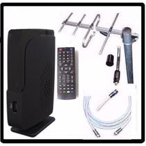 Kit Completo Tv Digital Tda Antena Ext Decodificador Envios