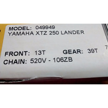 Kit Transmisiom Yamaha Xtz 250 Lander Did Brasil Completa !!