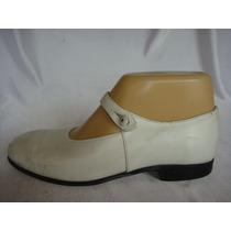 Zapato De Nena Nro.35 Cuero Blanco Ideal Comunion/cortejo