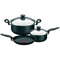 Bateria De Cocina Tefal Pratika 5 Piezas Tapas De Vidrio