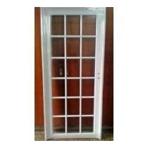 Puerta Aluminio Exterior Vidrio Repartido 80x200 Doble Perno
