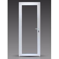 Puerta Módena Premium Aluminio Blanco 70x200 Vidrio Entero