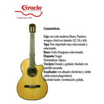 Guitarra Criolla Electroacustica Gracia Wilde Pro Oferta!!!