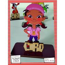 Souvenir Aplique Personalizado Madera 60cm Jake Piratas Izzy