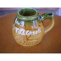 Mate De Ceramica Recuerdo De Villa Gesell- Retro