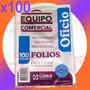 Folios Oficio Reforzados X100u Cristal 11 Perforaciones