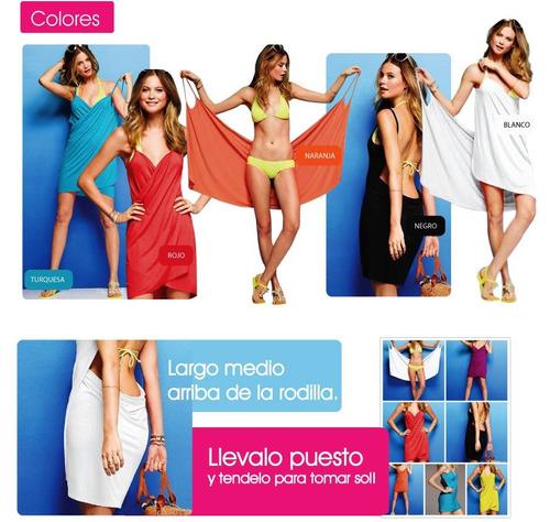 7da88528 Pareo Vestido Multiuso Multialle Remera Jean Pollera Bikini (Con ...