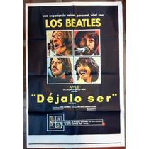 The Beatles Afiche De Cine Original De Let It Be. Impecable